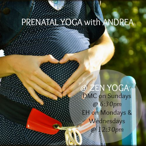 prenatal yoga with Andrea Balazs