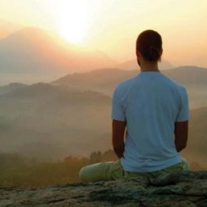 Meditation over the mountains
