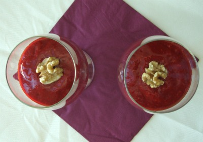 Raw Chocolate-raspberry mousse