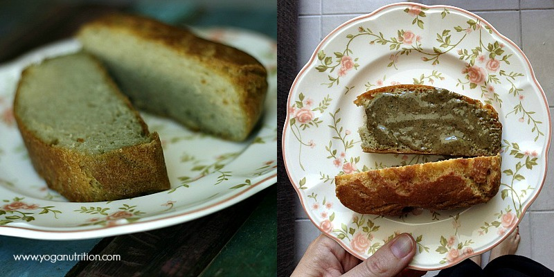 Coconut bread with pumpkin seed butter