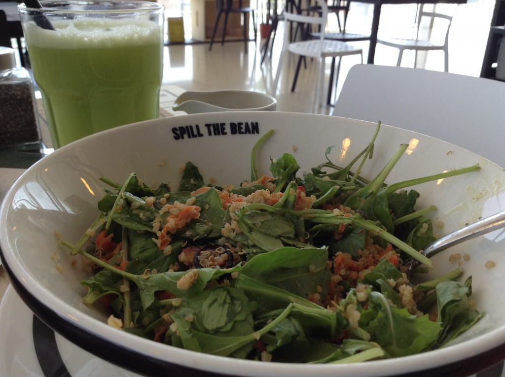 salad at spill the bean